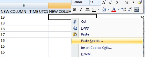 Create a new column --> Copy your hours --> Paste special
